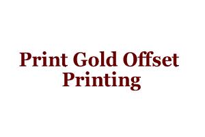 Print Gold Offset Printing