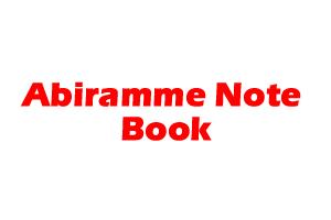 Abiramme Note Book