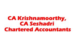 CA Krishnamoorthy, CA Seshadri Chartered Accountants