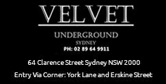 Velvet Underground Gentlemans Club Sydney