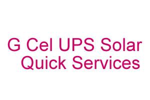 G Cel UPS Solar Quick Services