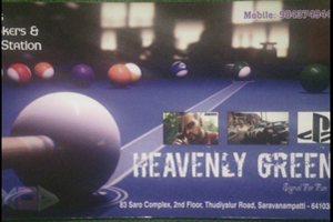 Heavenly Green, Snooker , Billiards