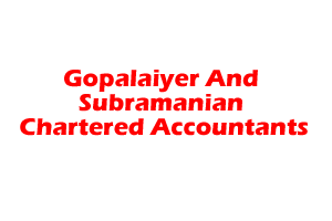 Gopalaiyer And Subramanian Chartered Accountants