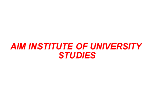 AIM INSTITUTE OF UNIVERSITY STUDIES