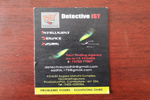 YASMIN DETECTIVE  ISY VERIFICATION SERVICES