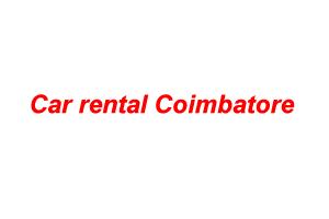 Car rental Coimbatore