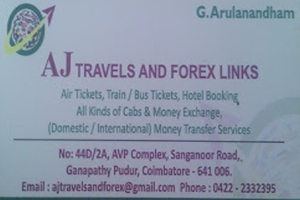 AJ TRAVELS & FOREX LINKS Ganapathypudur
