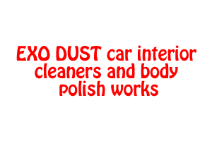 EXO DUST car interior cleaners and body polish works