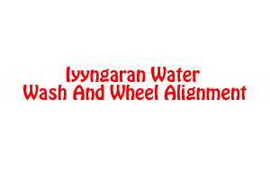 Iyyngaran Water Wash And Wheel Alignment
