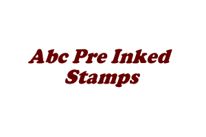 abc Pre Inked Stamps