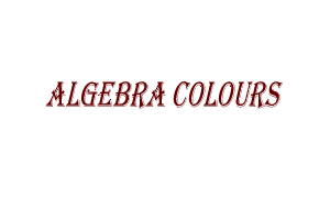 Algebra colours