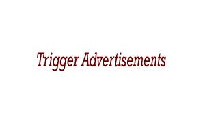 Trigger Advertisements