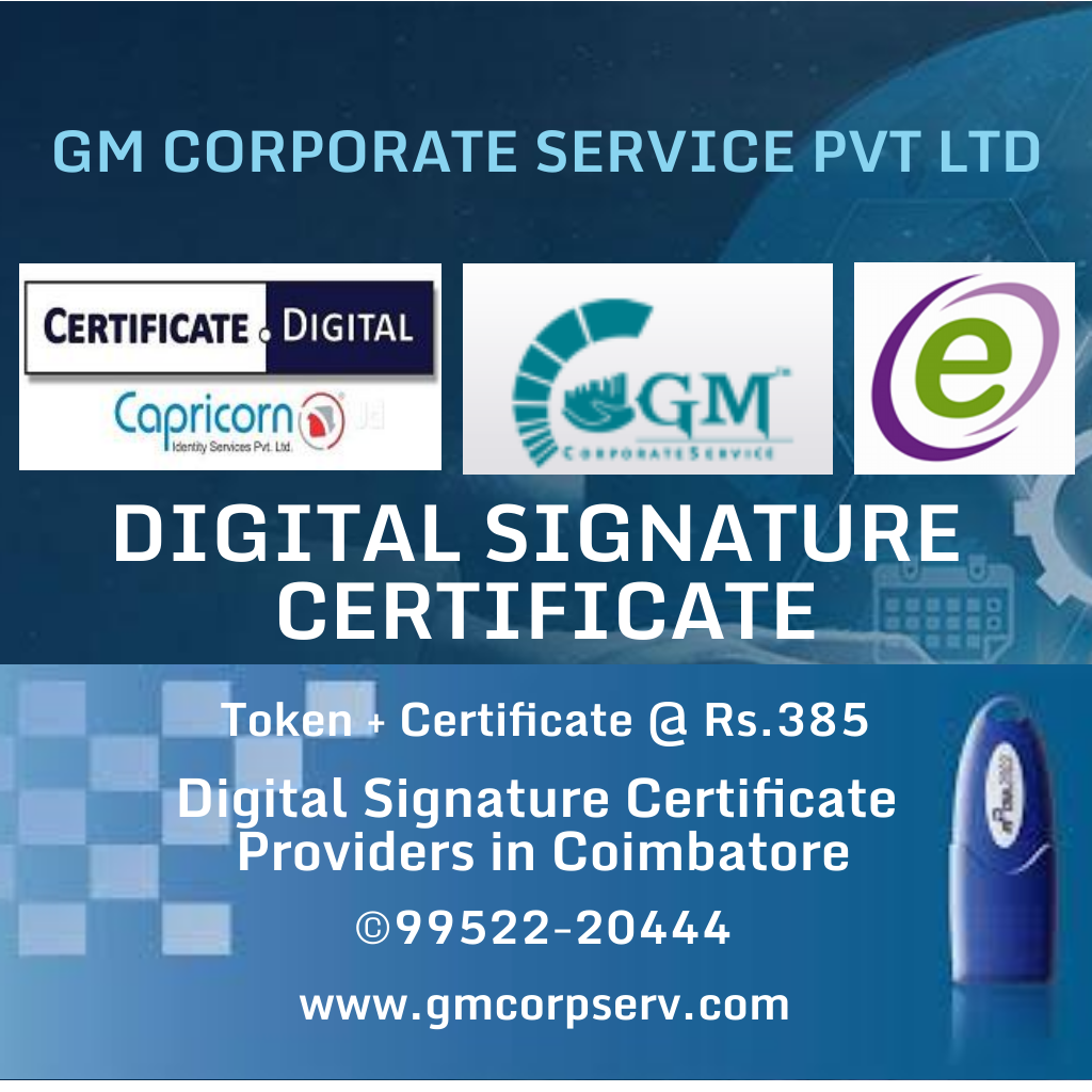 Digital Signature Certificate in Coimbatore