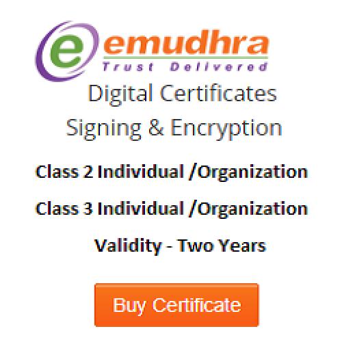 eMudhra Digital Signature Certificate