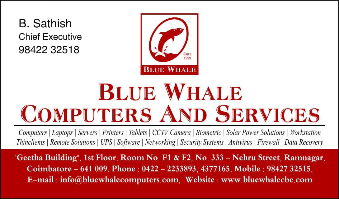 BLUE WHALE COMPUTERS AND SERVICES